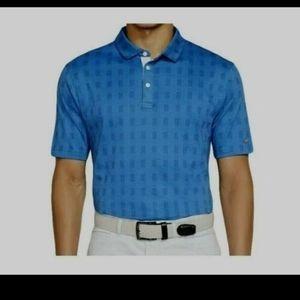 Nike blue drifit standard golf polo size large